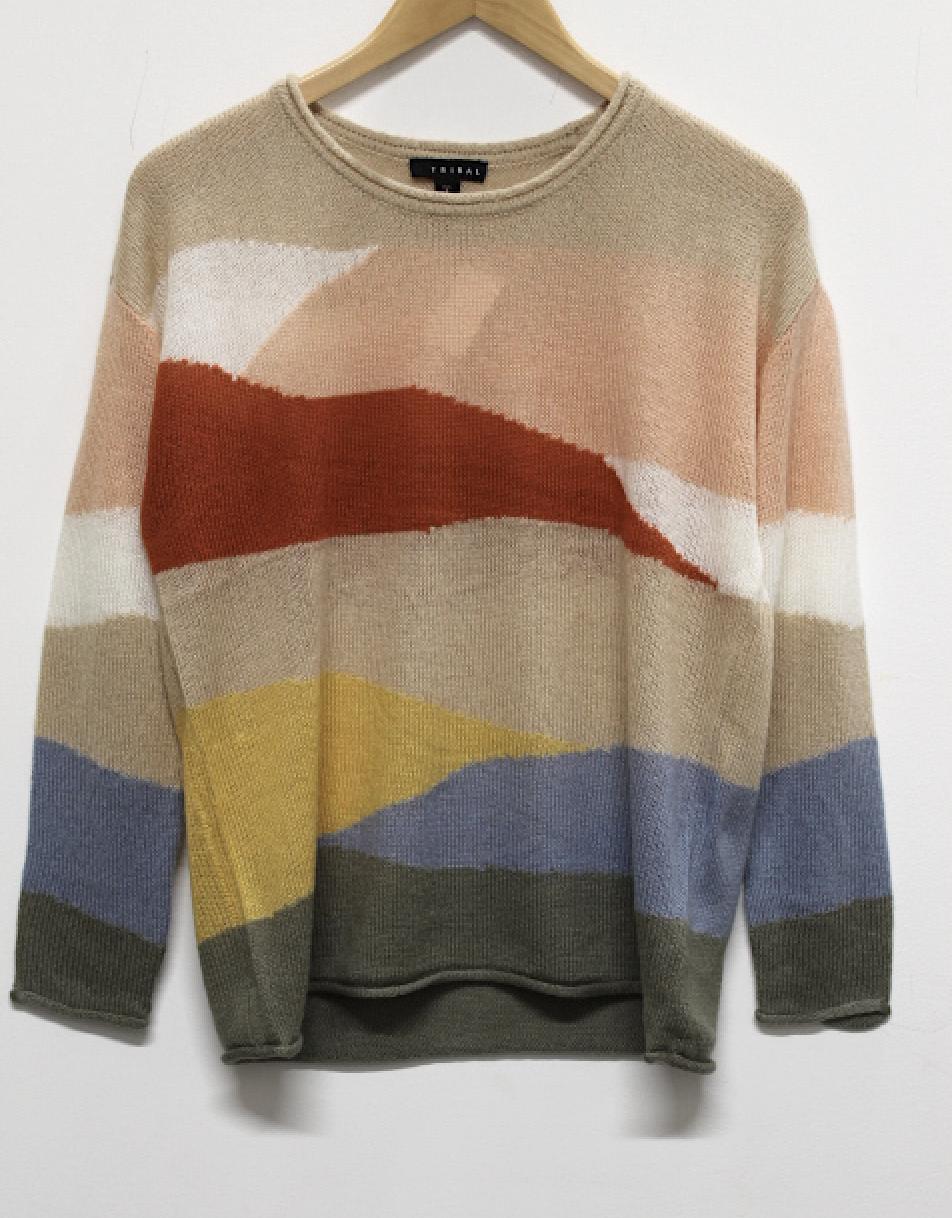 Tribal Intarsia Sweater