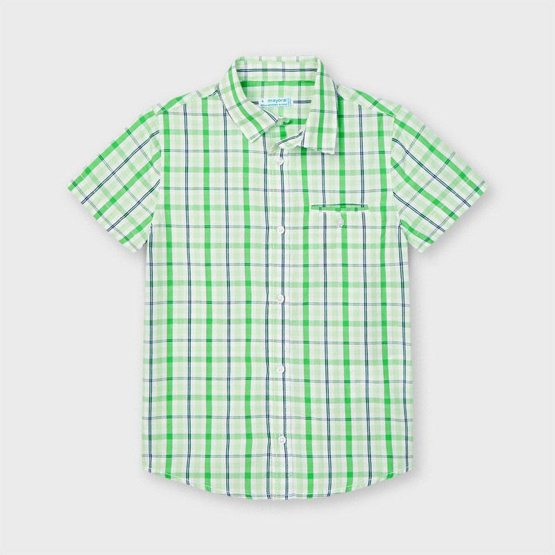 Mayoral Checked Green Shirt