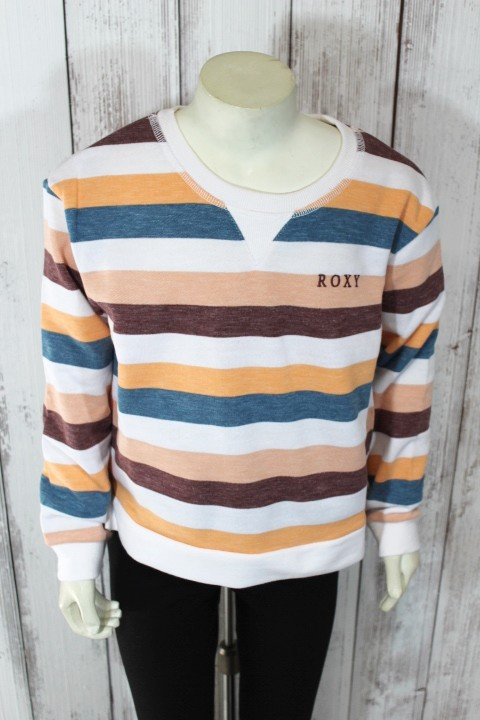 Roxy Colorful Stripe Crewneck