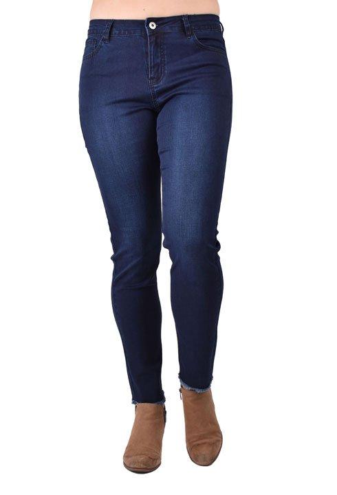 Ethyl Frayed Hem Skinny Jean