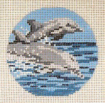 Dolphin Ornament Needle Crossings