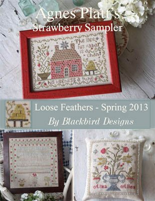 Agnes Platt's Strawberry Sampler Loose Feathers Blackbird