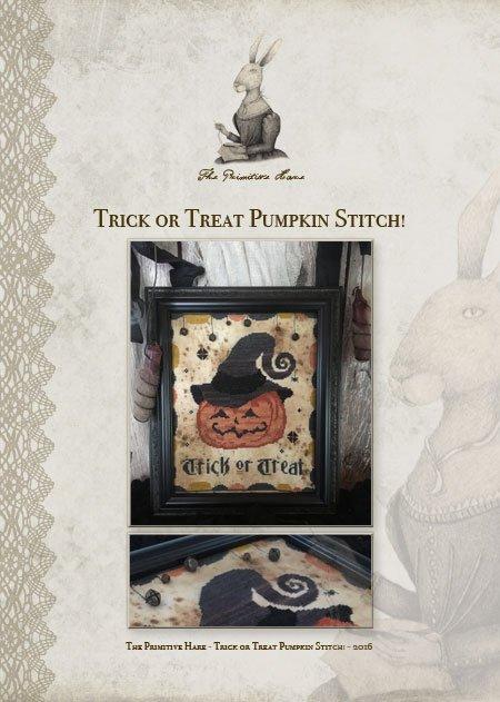 Trick or Treat Pumpkin Primitive Hare