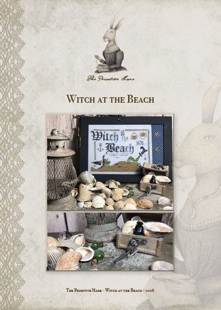 Witch at the Beach Primitive Hare
