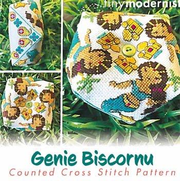 Genie Biscornu Tiny Modernist