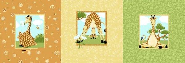 Susybee Zoe the Giraffe Pillow panel