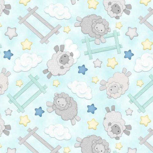 Henry Glass Sleepy Bear Flannel F1436 11