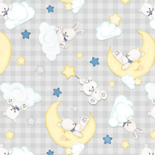Henry Glass Sleepy Bear Flannel F1439 90