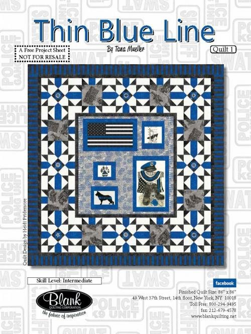 Thin Blue Line Quilt Kit
