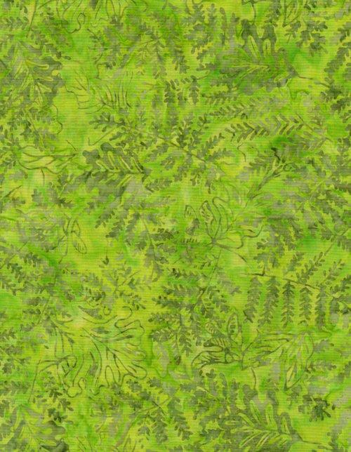 Timeless Treasures Batik Tonga B8402 Lime
