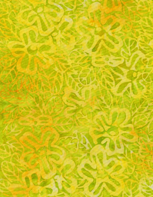 Timeless Treasures Batik Tonga B9385 Citron