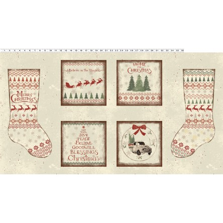 Clothworks Home For Christmas Y2430 11
