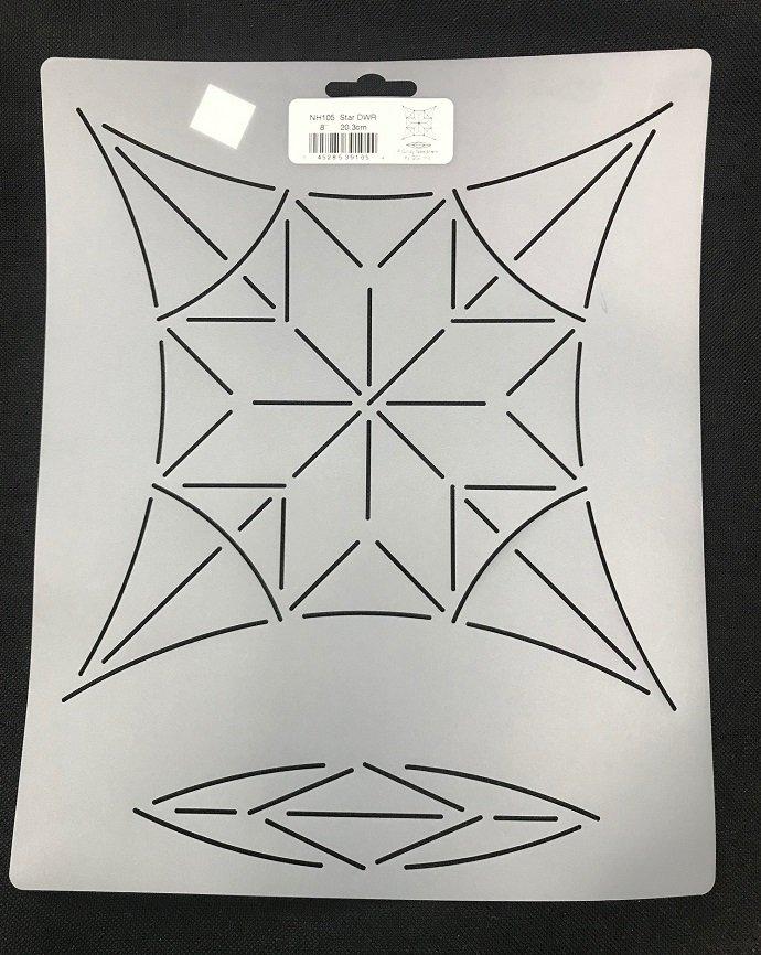 8 Star Stencil