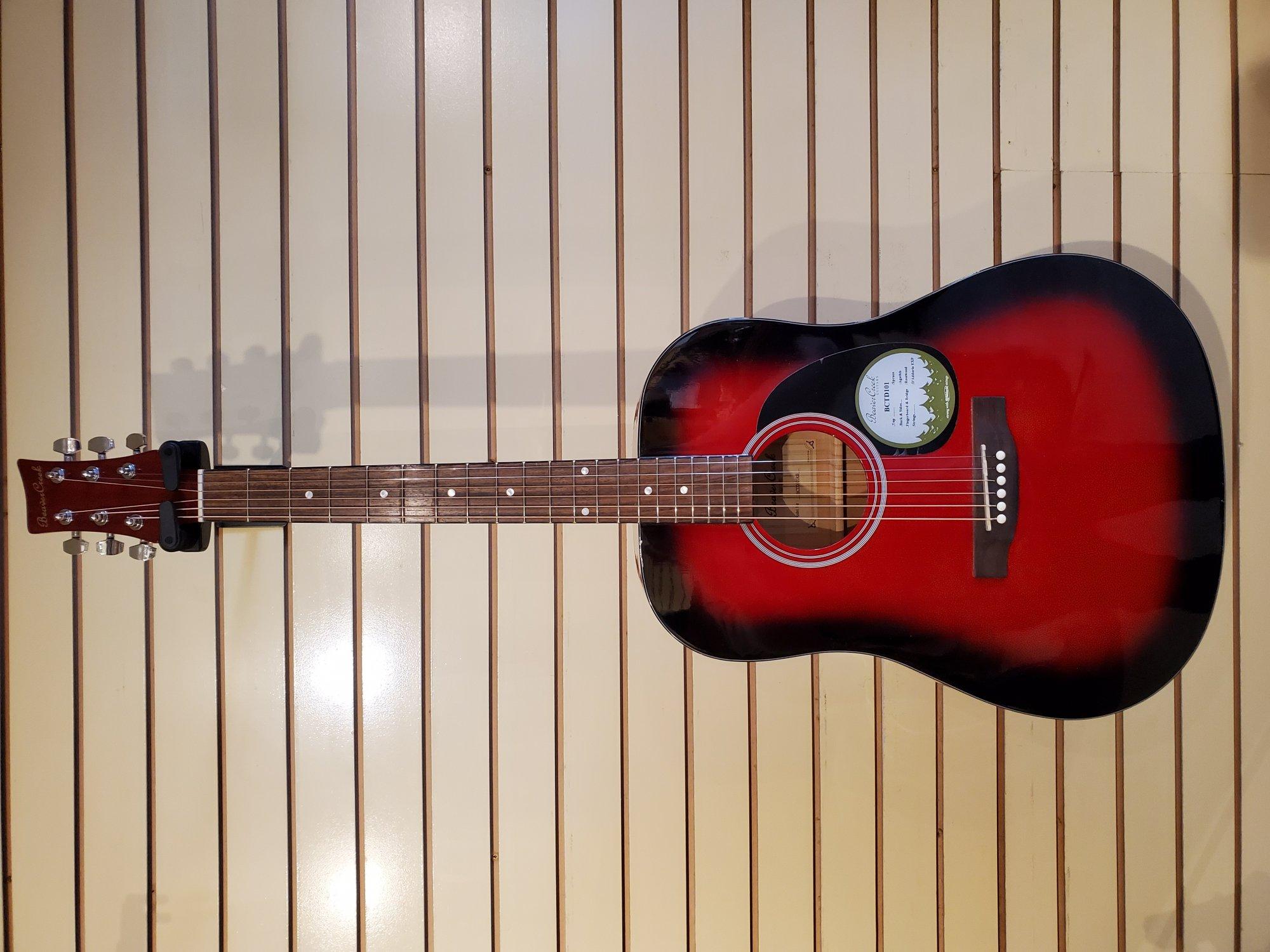 Beaver Creek B-Stock BCTD101 Red Acoustic Guitar