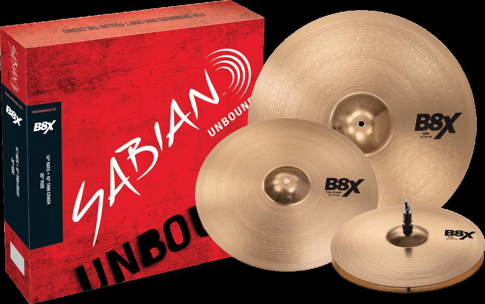 Sabian B8X Performance Cymbal Pack 45003X