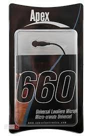 Apex 660 Universal Lav Microphone