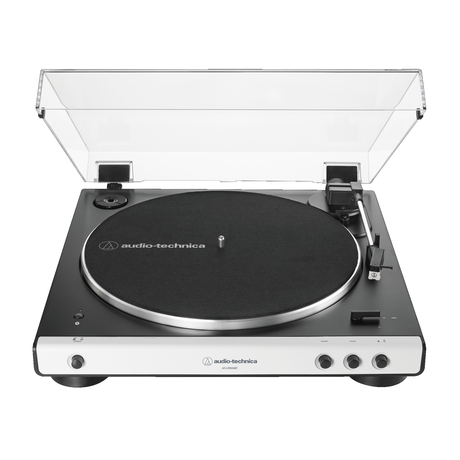 Audio-Technica Fully Auto Wireless Belt-Drive Turntable, White AT-LP60XBT-WH