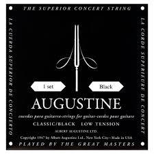 Augustine Black Classical Stringset - Low Ten. ABK-S