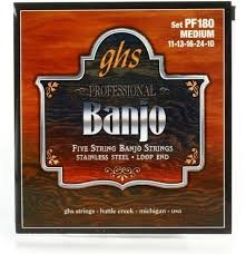 GHS Banjo PF180 5 String Med Stringset