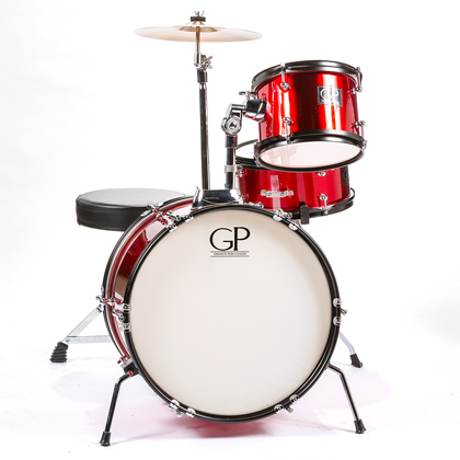 Granite Percussion Junior 3-piece Red Drumset GP-JR3