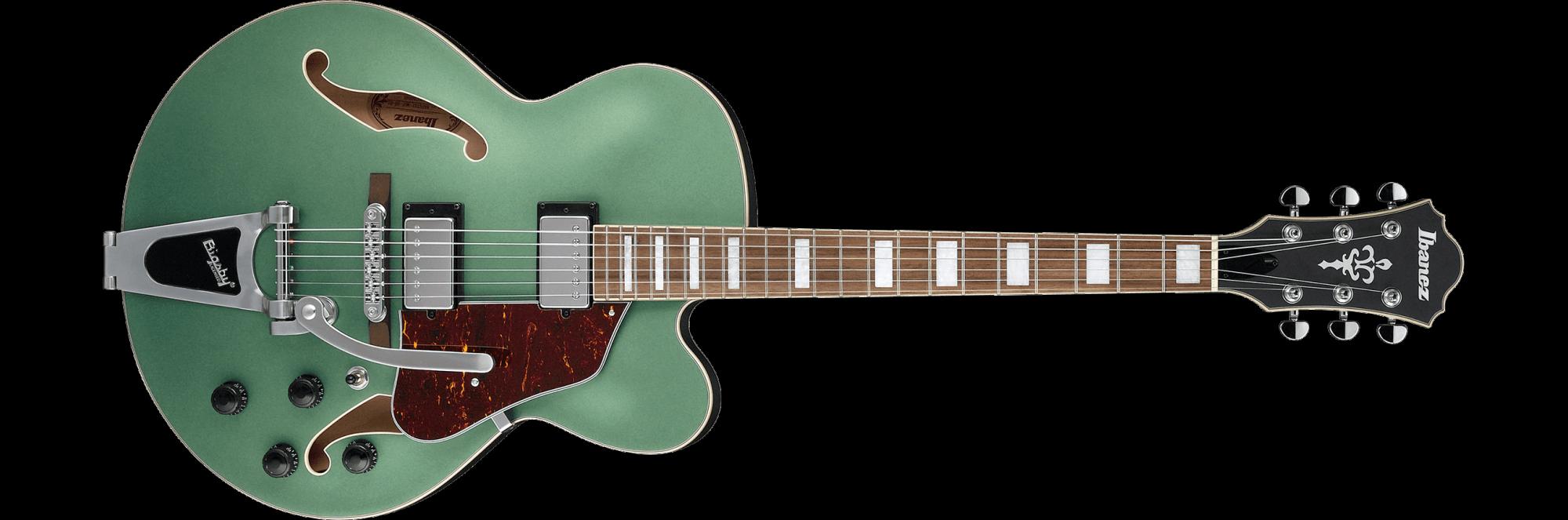 Ibanez AFS75T-MGF Artcore Hollow Linden Body - Metallic Green Flat