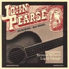 John Pearse 600L Light Phos Bronze Acoustic Stringset JP600L