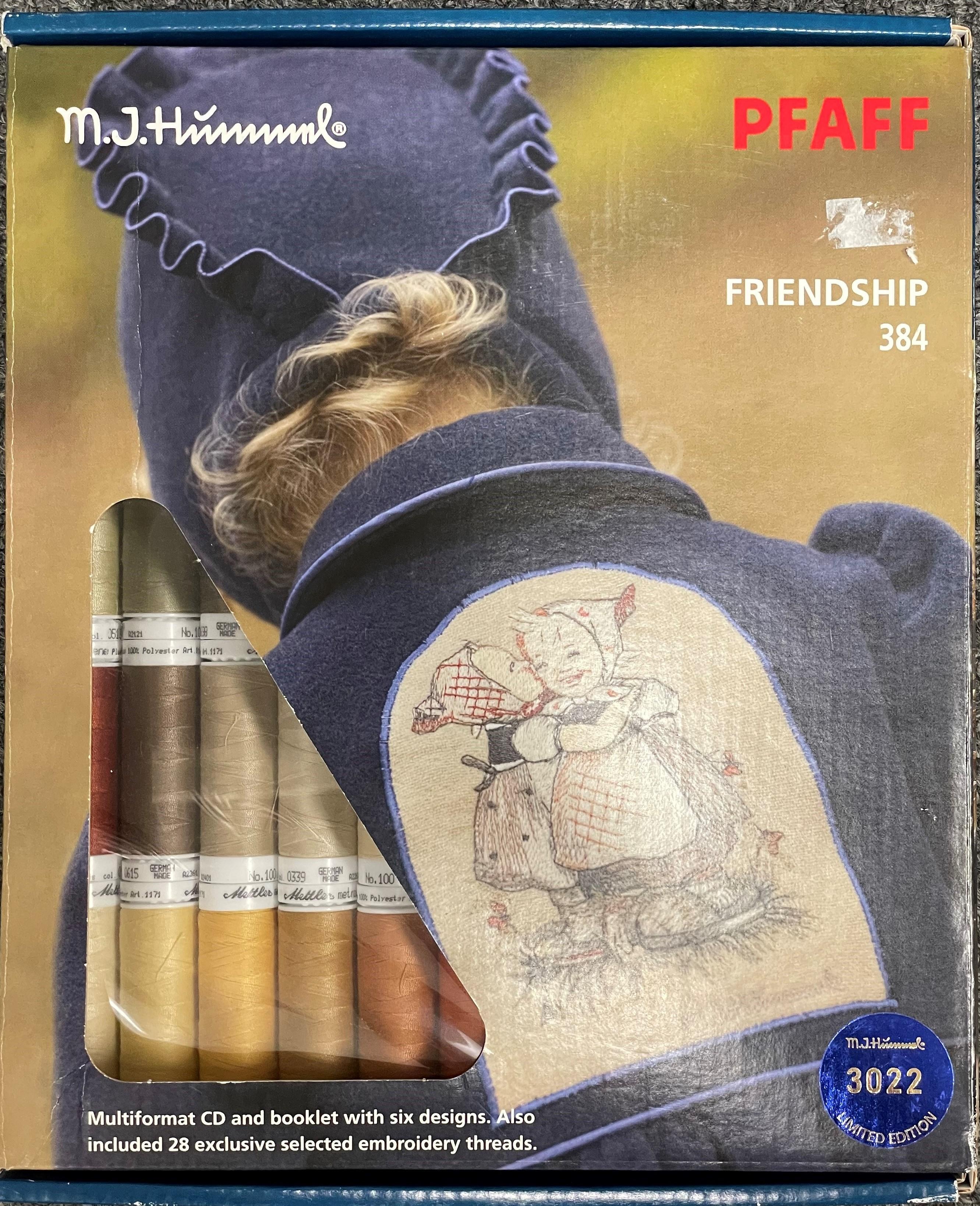 Pfaff M.J. Hummel Friendship 384 Multi-Format Embroidery Design Book and CD
