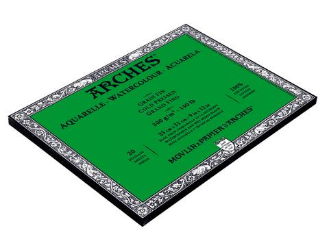 ARCHES WATERCOLOUR COLD PRESS BLOCK NAT WHT 140LB 9X12