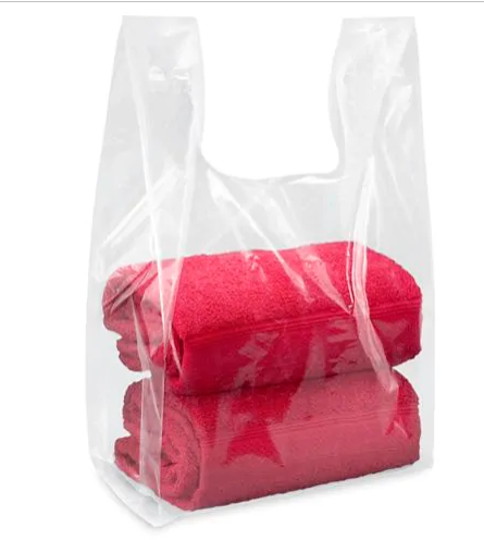 DELUXE T-SHIRT BAGS - 12 X 7 X 22 CLEAR