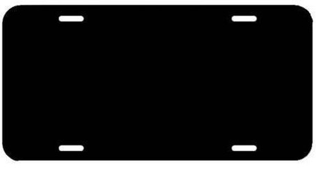 LICENSE PLATE - BLACK OR WHITE