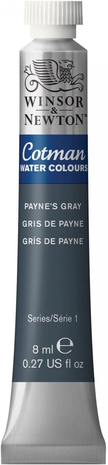Winsor & Newton Cotman Water Colours 8ml-Paynes Gray