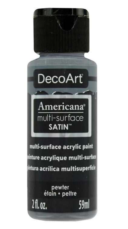 Americana Multi-Surface Satin Acrylic Paint 2oz-Pewter