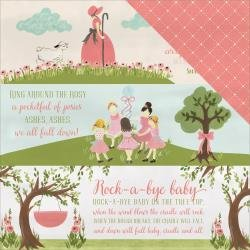 Rock-A-Bye Baby Girl Double-Sided Cardstock 12X12 Nursery Rhymes