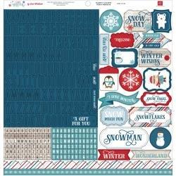 I Love Winter Cardstock Stickers 12X12 Alpha