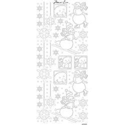 Papicolor Marie Eve Peel Off Stickers 100X255mm Snowmen Black
