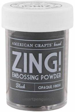 American Crafts Zing! Metallic Embossing Powder 1oz Black
