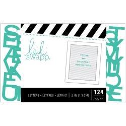 Heidi Swapp Letterboard Alphabet .5 124/Pkg Teal Sans Serif