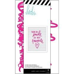Heidi Swapp Letterboard Words 9/Pkg Love, Pink