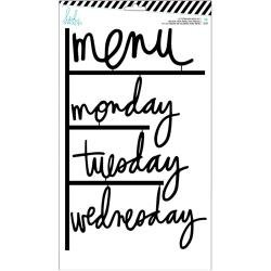 Heidi Swapp Letterboard Words Set Black Menu (W/Days Of The Week) 12/Pkg