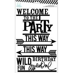 Heidi Swapp Letterboard Words 31/Pkg Party, Black