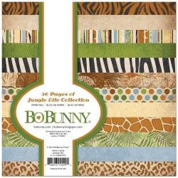 BoBunny Single-Sided Paper Pad 6X6 36/Pkg Jungle Life, 12 Designs/3 Each