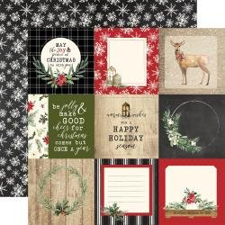 Christmas Double-Sided Cardstock 12X12  4X4 Journaling Cards