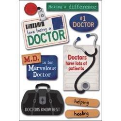 Doctor Cardstock Stickers 5.5X9