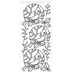 Cardinal Bird Peel-Off Stickers Black