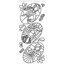 Elizabeth Crafts Peel-Off Stickers Silver-Jackie's Dolls In Ovals