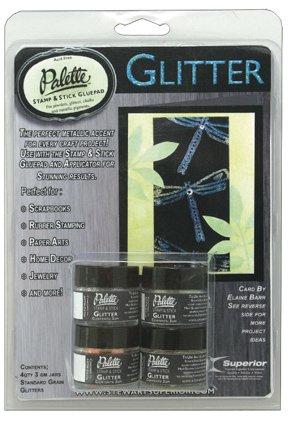 PALETTE STAMP & STICK GLUEPAD GLITTER - BLUES