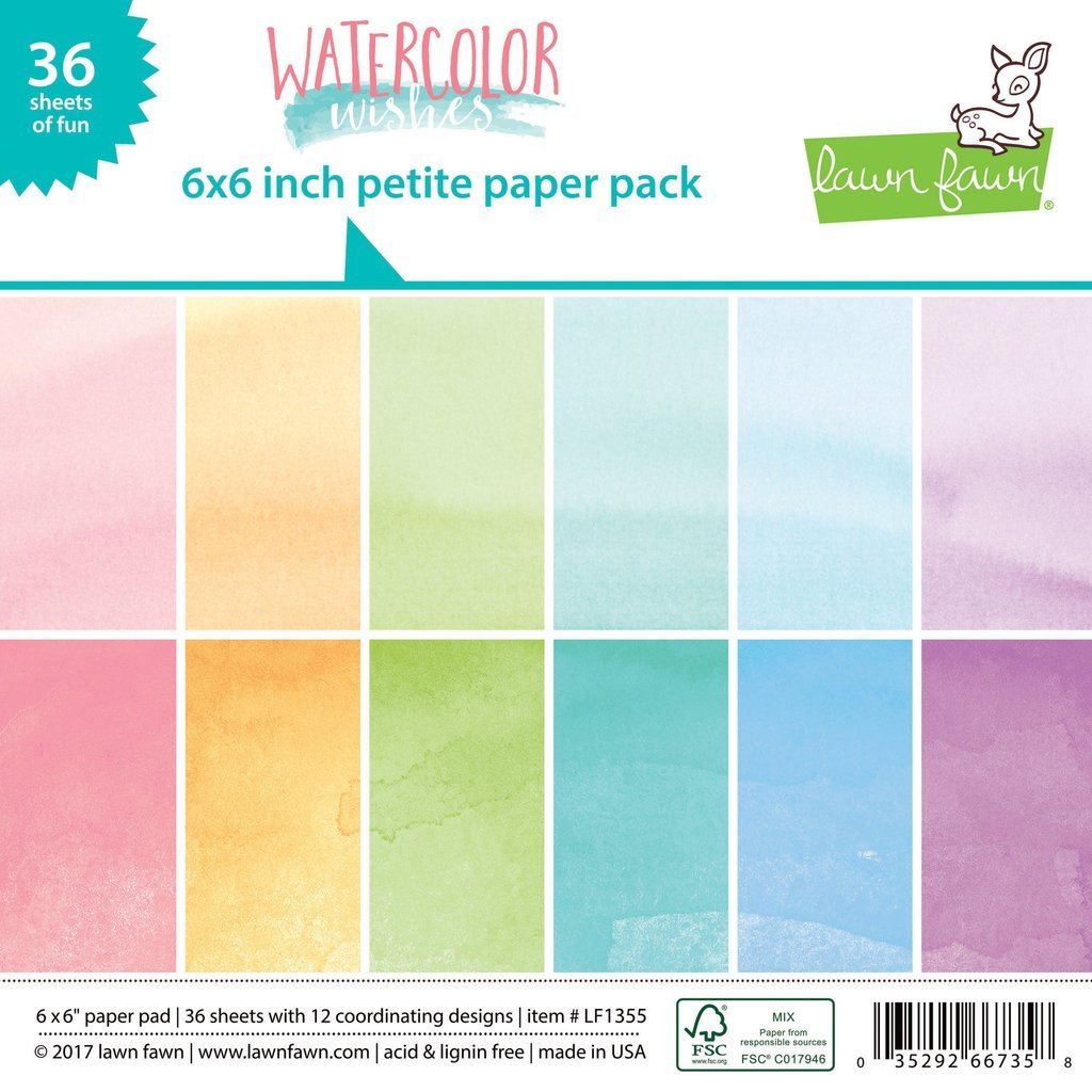 Petite Paper Pack Watercolour Wishes
