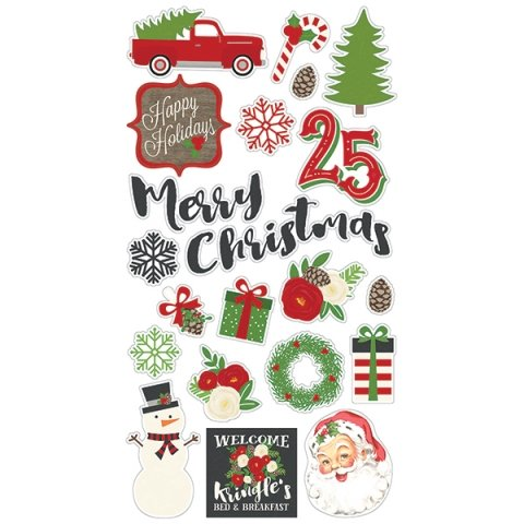 Simple Stories - Chipboard Stickers - Very Merry