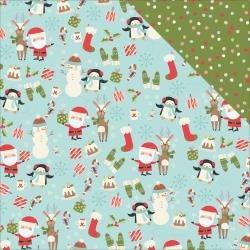 Oh What Fun Double-Sided Cardstock 12X12  Hey Santa