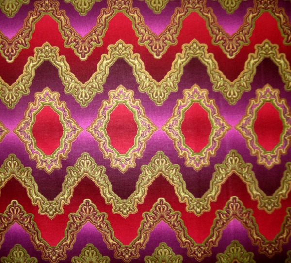 Gilded Opulence 'wacky' stripe ruby